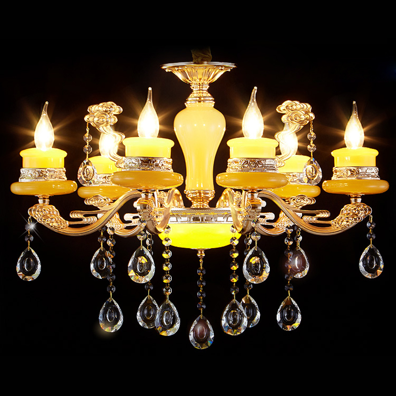 New 6 Lights Modern Chandeliers Light European Luxury Crystal Hanging Lamp Hotel Lobby Cafe Restaurant Kitchen Lighting PL603-6C z best price european luxury golden round crystal chandeliers light home foyer lamps hotel restaurant clubs bedroom droplights