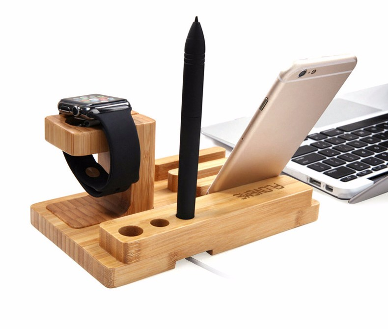 For iPhone Apple iWatch Wood Charge Holder (16)