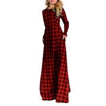 Для женщин макси с длинным рукавом Длинные винтажное платье вышивка решетки Кафтан Абая одежда мусульманское платье длиной до пола