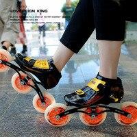 Japy Speed Inline Skates Koolstofvezel 3*110mm 3*125mm Concurrentie Skates 3 Wielen Racing Schaatsen Patines Soortgelijke Powerslide