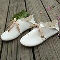 Осенью новый сен связаны с полукруглой головкой белый обуви плоским кукла обувь отдых искусство ван студентов два обувь женская обувь