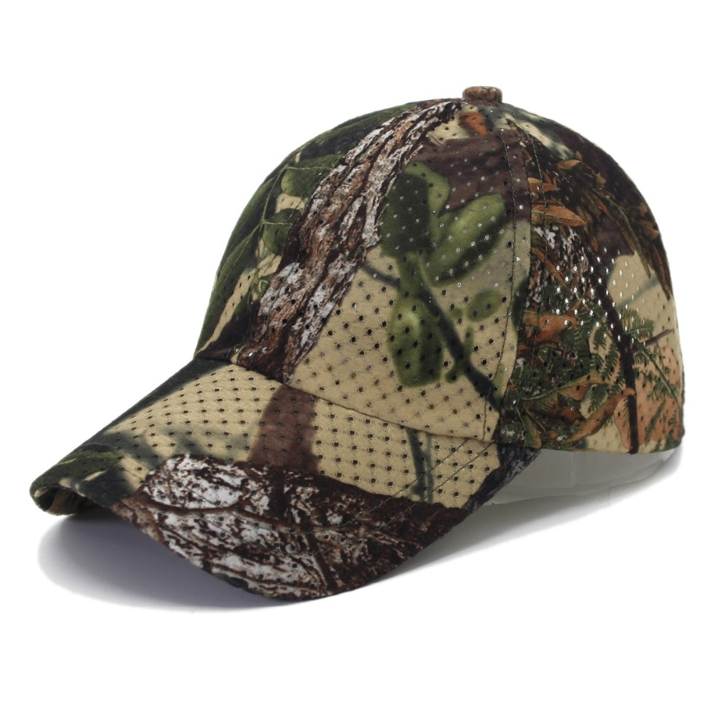Jungle Old Tree Hat Hunting Fishing Camo Cap Adjustable Camcouflage Baseball Cap For Men (1)