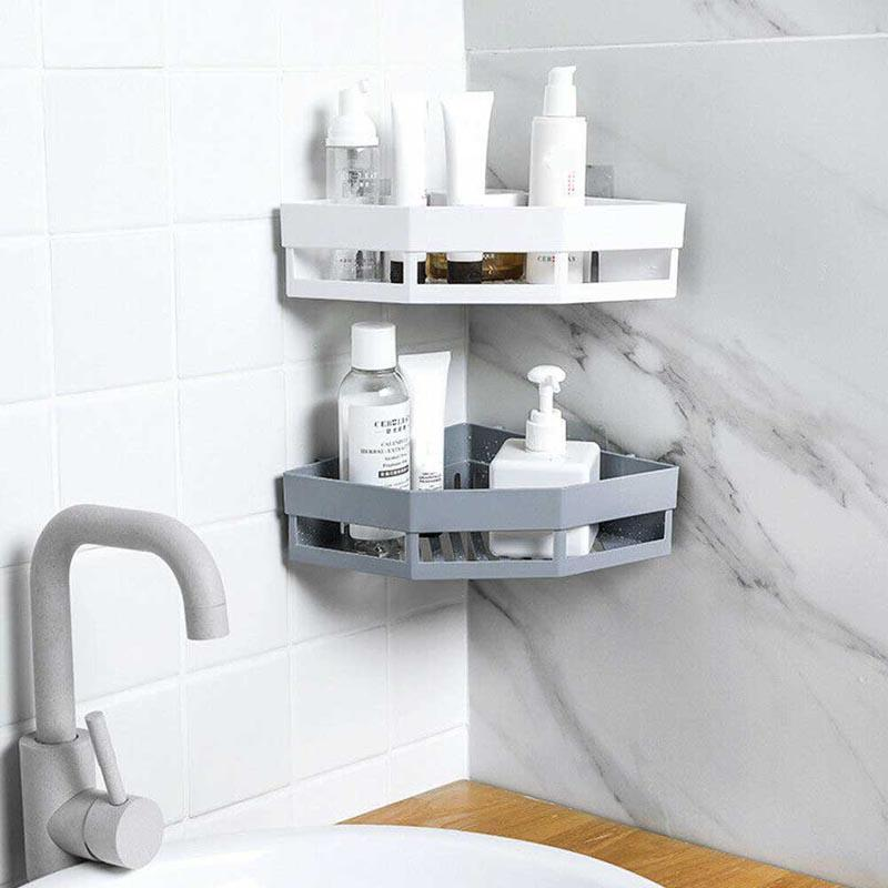 Bathroom Shelf Triangular Rack Bathroom Accessories Storage Organizer For Shampoo Soap Cosmetic Basket Holder