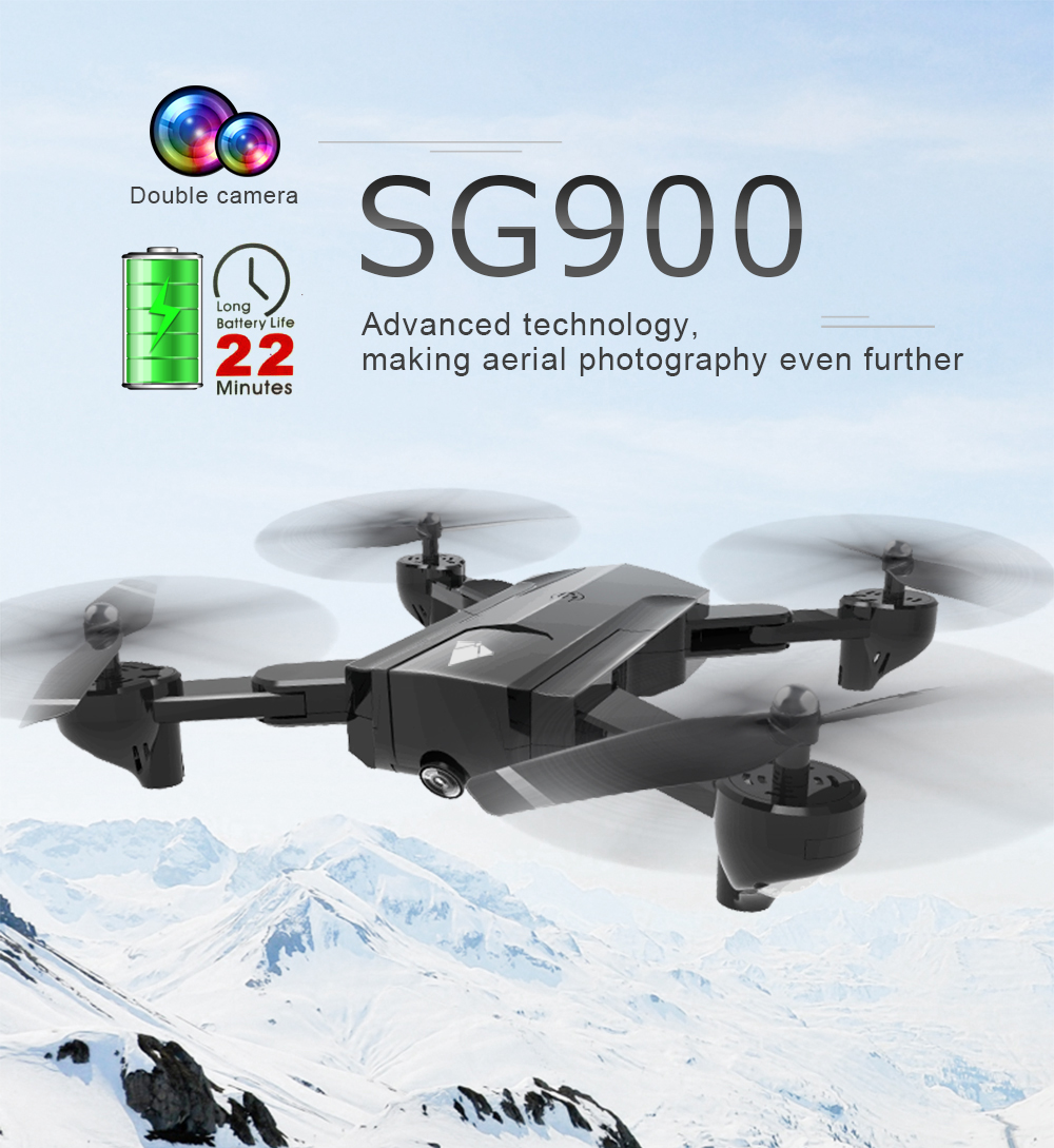 SG900 Drone Dual Camera HD 7P Profession FPV Wifi RC Drone Fixed Point Altitude Hold Follow Me Dron Quadcopter 14