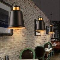 黒ペンダントライトバー現代ライトキッチン島大ランプ寝室のペンダント照明研究室天井ランプ電球には、 -