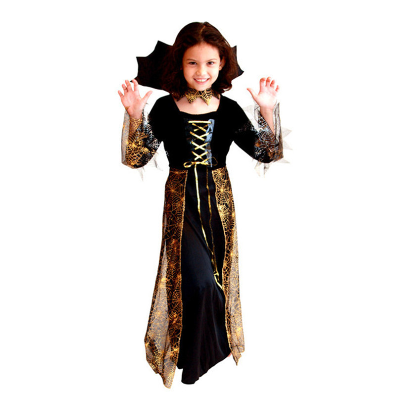 aliexpresscom buy girl horror dress up fantasia disfraces halloween costumes children kids vampire cosplay witch costume game uniforms vampire gir from - Witch Halloween Costumes For Girls