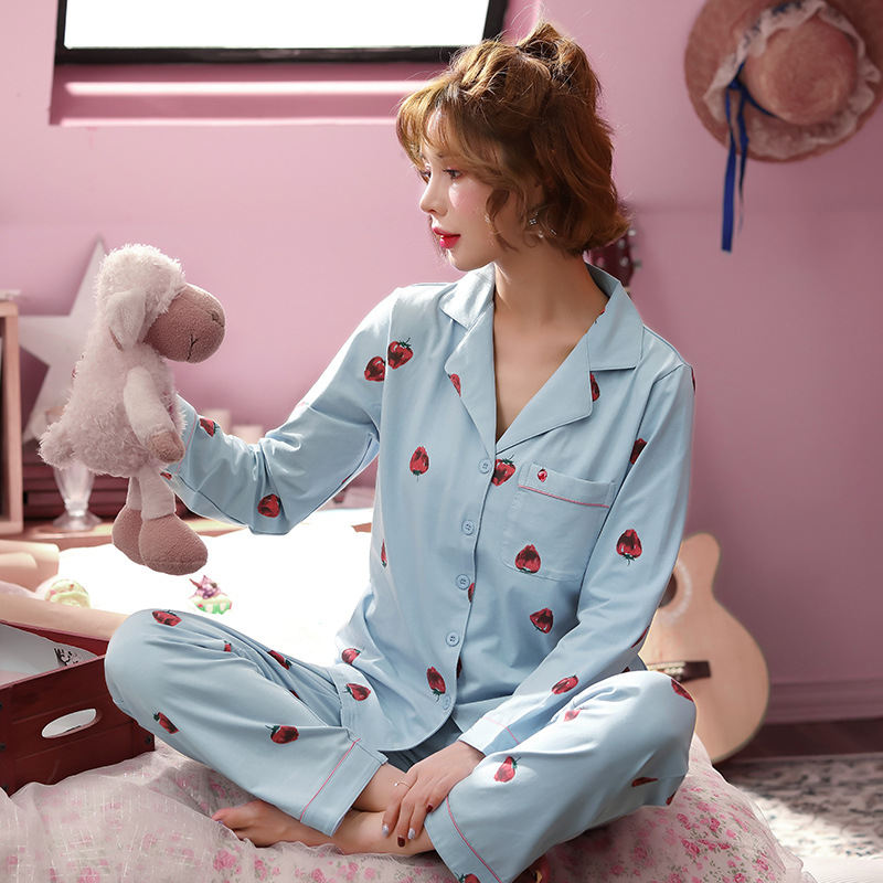 Women Clothes for Autumn winter Pajamas Sets O-Neck Sleepwear Lovely Rabbit Pijamas Mujer Long Sleeve Cotton Sexy Pyjamas Female 69