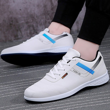 Vulcanize shoes shallow solid lace-up designer male sneakers increase hard-wearing wedge sneakers sapato masculino
