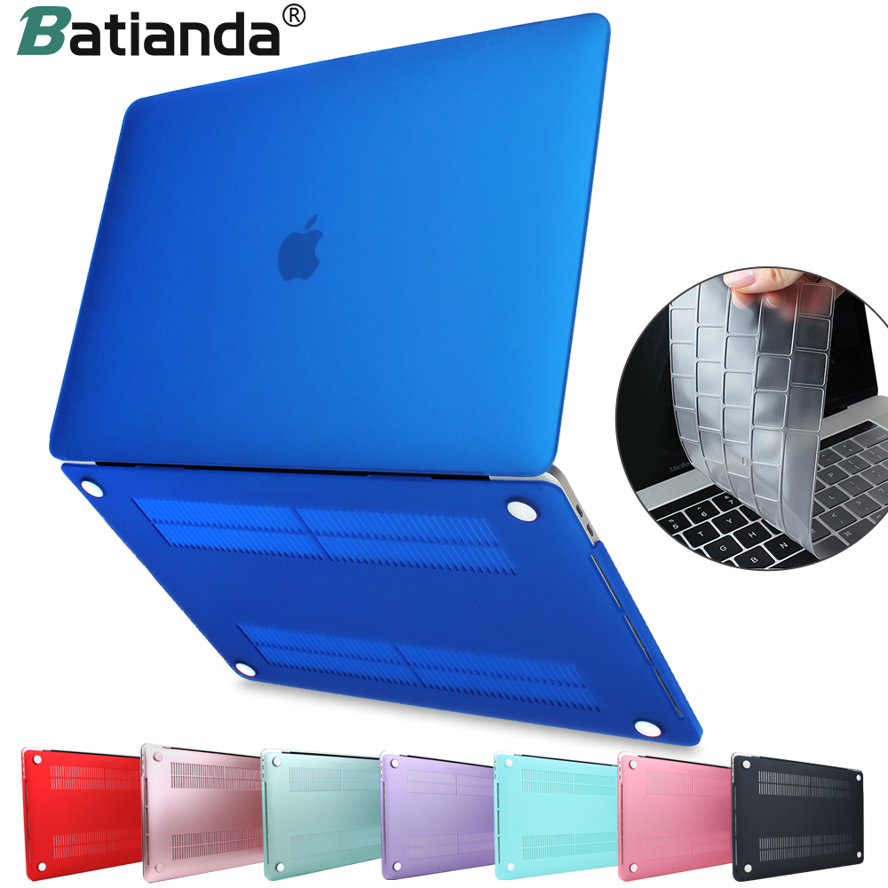 все цены на For MacBook Pro Air Retina 11 12 13 15 Crystal & Matte Laptop Case For 2018 Macbook Pro 13 15 Touch Bar A1989 A1708 Hard Cover