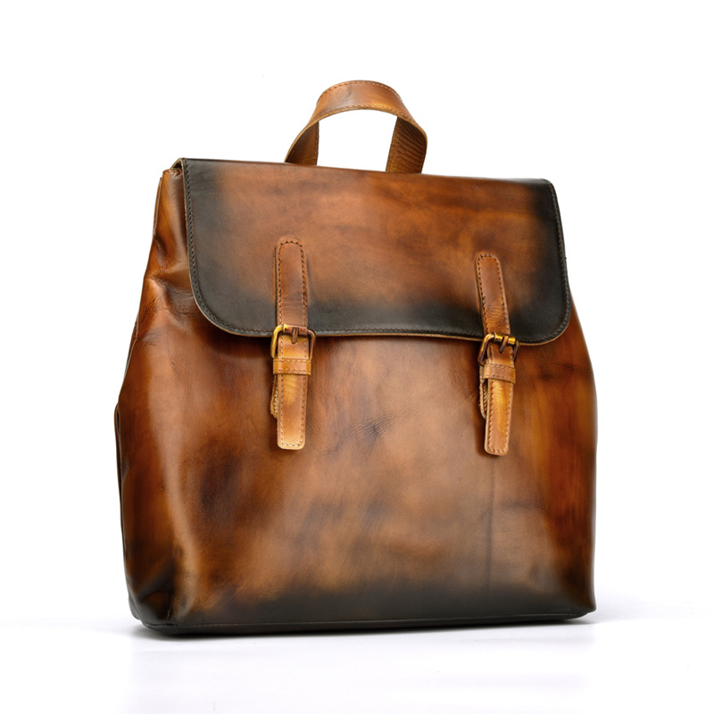 NEW Cow Leather Cover Backpacks Travelling Bag Women Men Cowhide Genuine Leather Schoolbag Satchels Casual Business Travel Bags 2016 new fashion backpacks genuine leather soft bags women girls rhombus tassels zipper schoolbag satchels bagpack shoulder bag