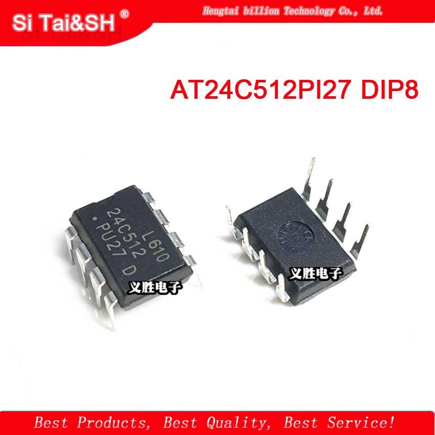 5pcs/lot AT24C512PI27 AT24C512 24C512 DIP-8  1pcs/lot