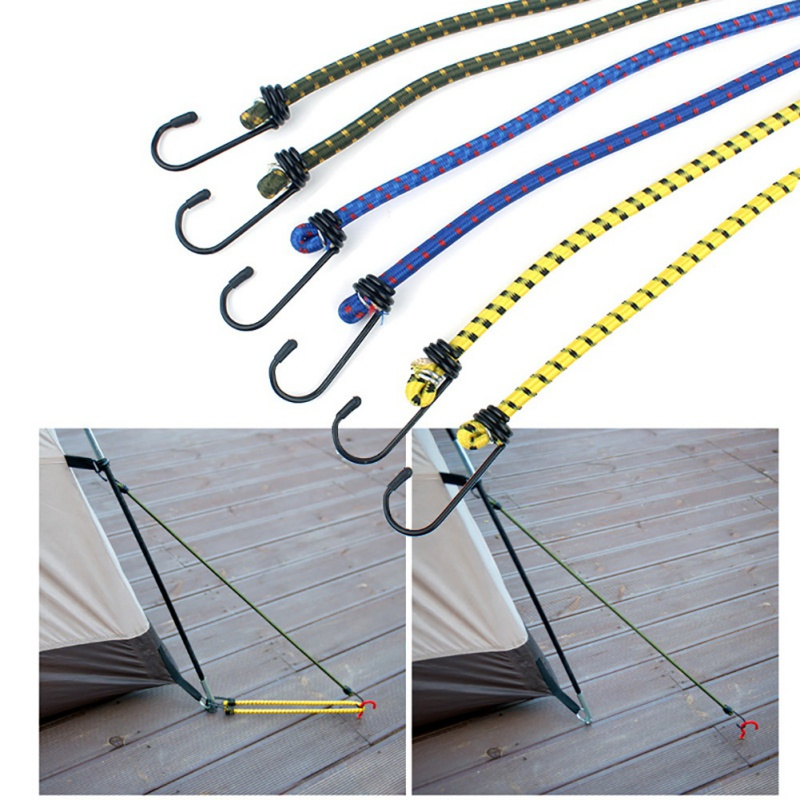 Outdoor bundled rope 6 piece set elastic band tent rope elastic clothesline camping accessories luggage strapping Tent accessori image