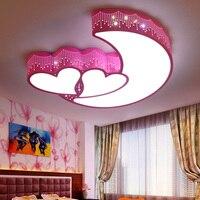 Bedroom lamp warm romantic led ceiling lamp girl pink wedding room lamp alien heart shaped room ceiling light ZA914657