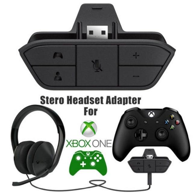 Czarny zestaw słuchawkowy Stereo Adapter zestaw słuchawkowy Audio Adapter konwerter słuchawek dla Microsoft Xbox One bezprzewodowy kontroler do gier