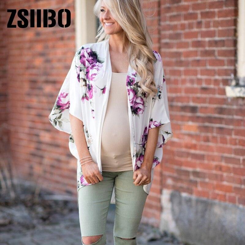09100b4174c89a ... Large size Kimono Women Blouses Batwing Sleeve Chiffon Shirts Floral  Priting transparent Beach Cardigan Pregnant Tops on Aliexpress.com |  alibaba group
