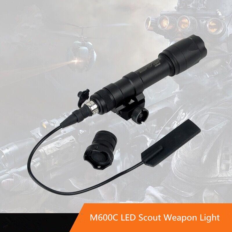Airsoft Surefir M600C arme tactique Scout lumière LED