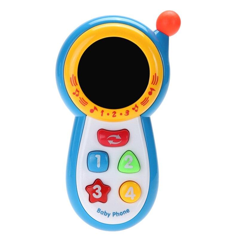 US $1.54 24% OFF|Dziecko dzieci telefon muzyczny telefon komórkowy zabawka nauka badanie dźwięk muzyczny telefon komórkowy edukacyjne zabawki