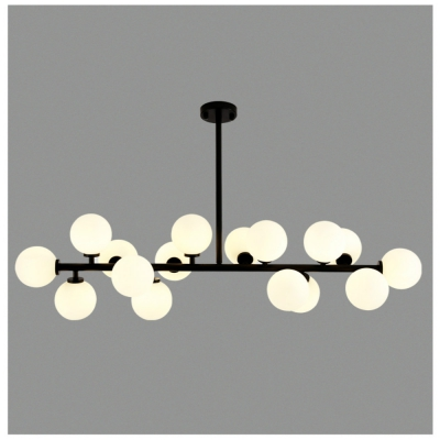 DengLiangZhiXin Nordic Simple Post-modern Glass Shade Magic Beans Chandelier for Living Room