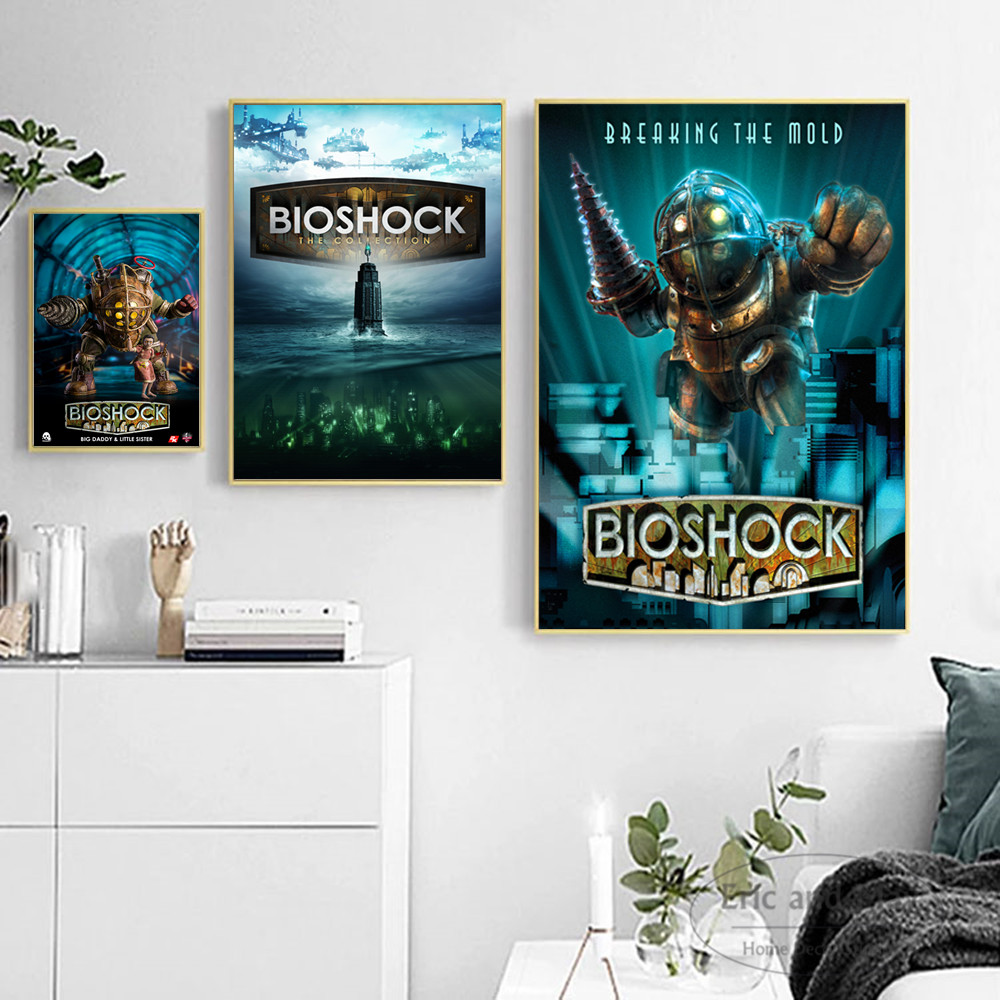 Us 4 15 48 offbioshock infinite video game art canvas art print painting modern wall picture home decor bedroom decorative posters no frame in