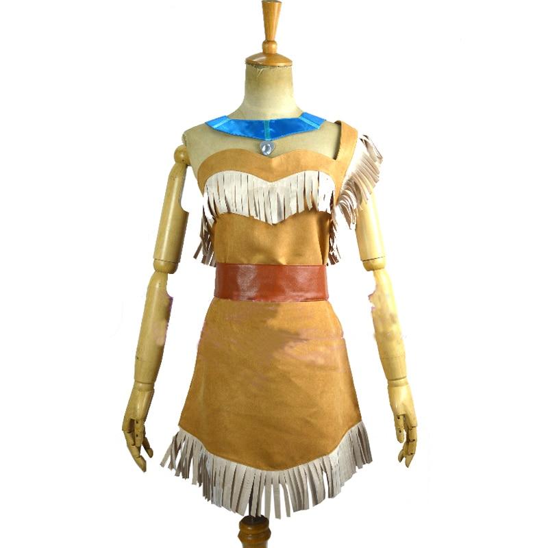 2018 New Style Movie Pocahontas Princess Cosplay Costume ...