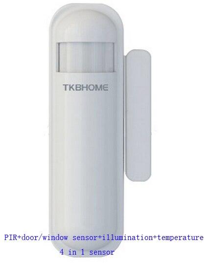 Zwave home system multi-capteur TSM02 PIR température porte/fenêtre et illumination 4 capteurs en 1 868.42 Mhz EU fréquence