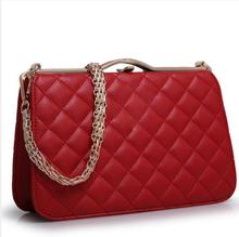 2018 hot sell high quality women leather luxury famous brands designer  metal chain handbag party clutch a78143996b