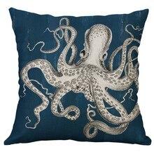 Marine Leben Korallen Meer Schildkröte Seepferdchen Whale Octopus Kissen Abdeckung Kissen Abdeckung Polyester Fall Sofa Bett Dekorative Heißer 50x50cm