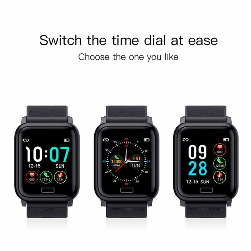 Image 2 - Smart Watch Band Bracelect 1.3 inch Screen Blood Pressure Oxygen Fitness bracelet Sport Standby Men Sport Fitness Tracker-in Smart Wristbands from Consumer Electronics