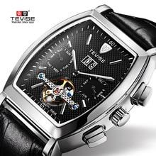 лучшая цена TEVISE Sport Watch Men Automatic Mechanical Watches Leather Men Watch Fashion Waterproof Male Clock Top Brand Luxury relogio