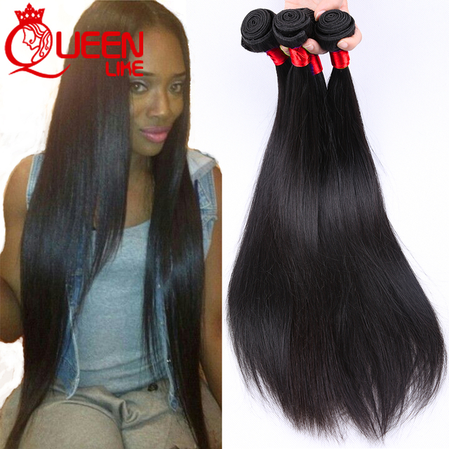 Mink Brazilian Virgin Hair Straight 4 Pcs Human Hair Weave Bundles
