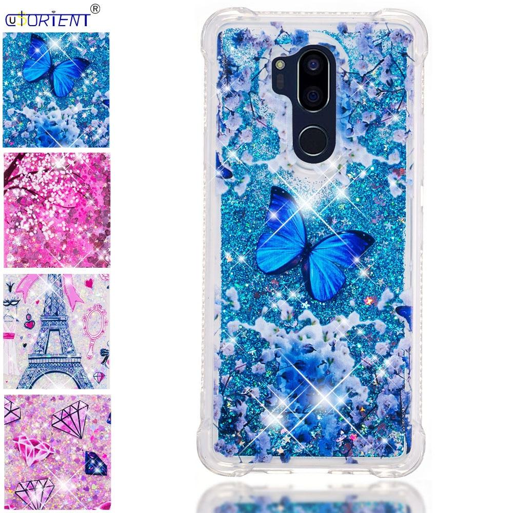 Half-wrapped Case For Lg G7 Thinq Glitter Stars Dynamic Liquid Quicksand Tpu Cover Phone Case Lmg710em Lmg710tm Lmg710pm Lmg710emw Back Funda Elegant And Graceful