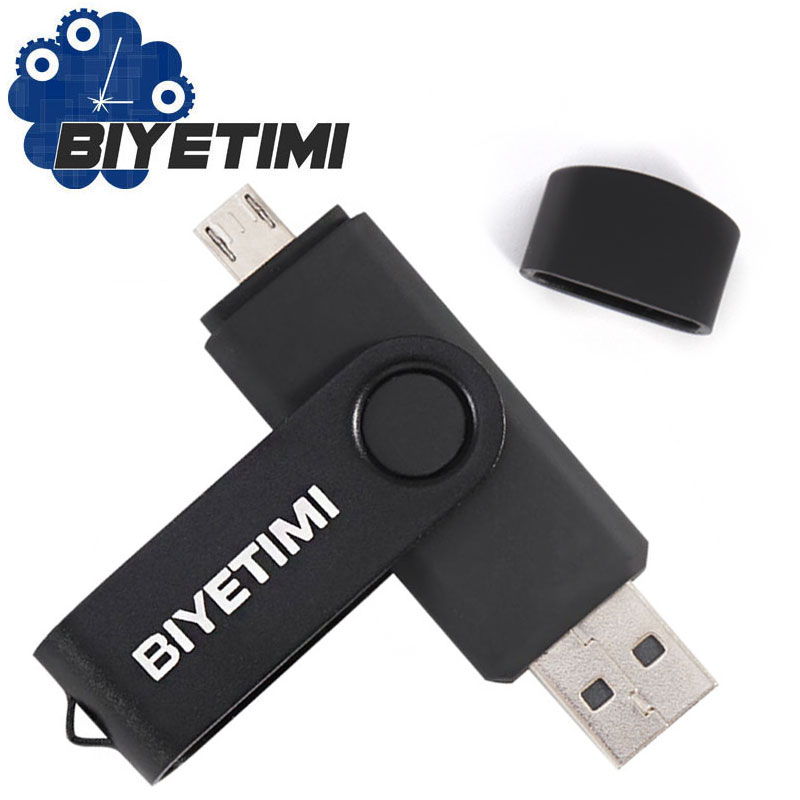 Biyetimi USB Flash Drive Pen Drive 64gb pendrive 8gb OTG external storage micro usb 2.0 memory stick Flash Drive Smart Phone