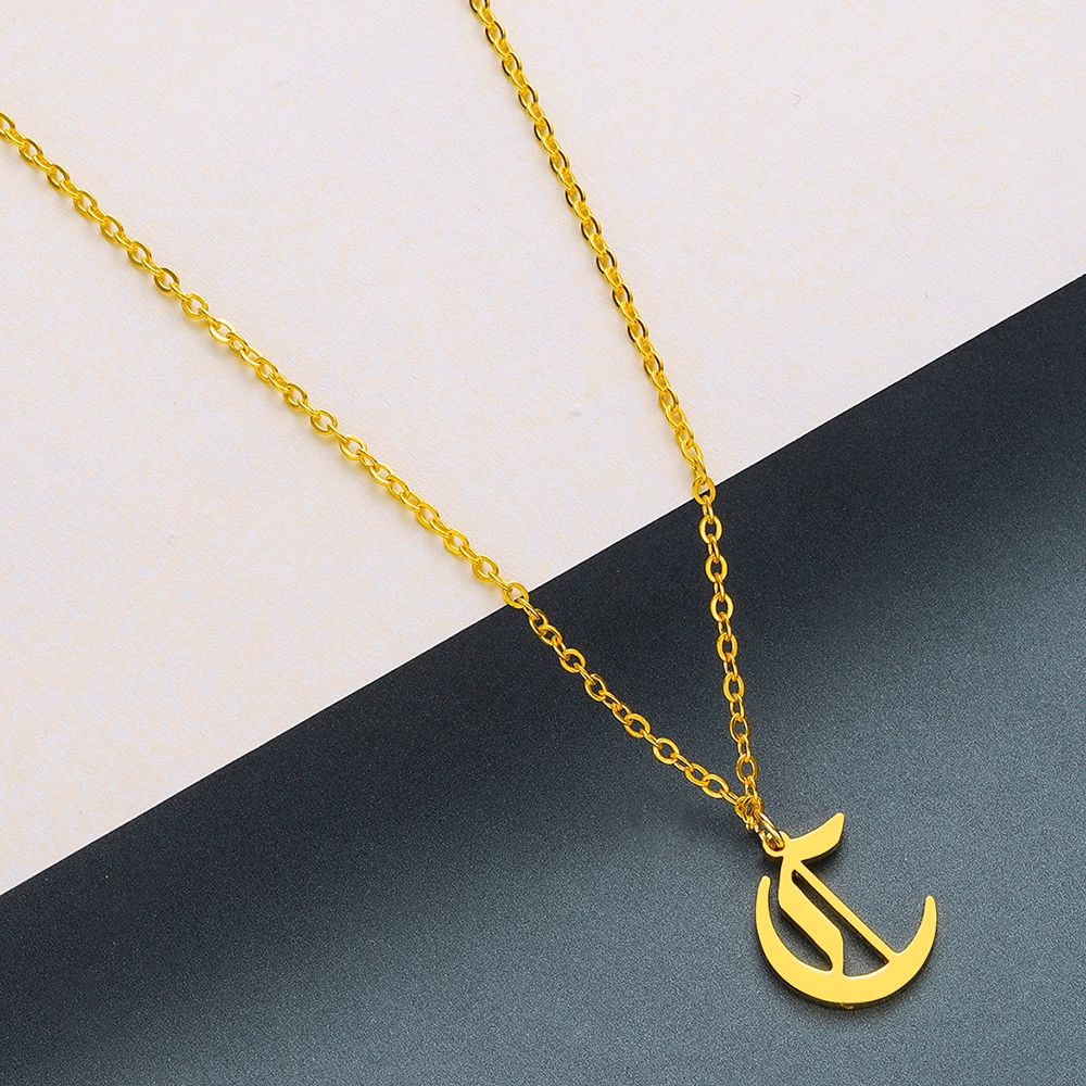 Todorova Old English Custom Capital Initial A-Z Letter Pendant Necklace Men Vintage Font Personalized Necklace Women Jewelry 8