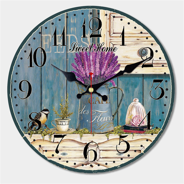 Flowers Saat Decorative Wall Clock Lovely Design Reloj Silent Living Room Wall Decor Home Decoration Watch Wall Christmas Gift