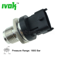 1800 Bar Diesel Common Rail Pressure Sensor For Renault Truck Mascott MAN TGA 2004 2014 0