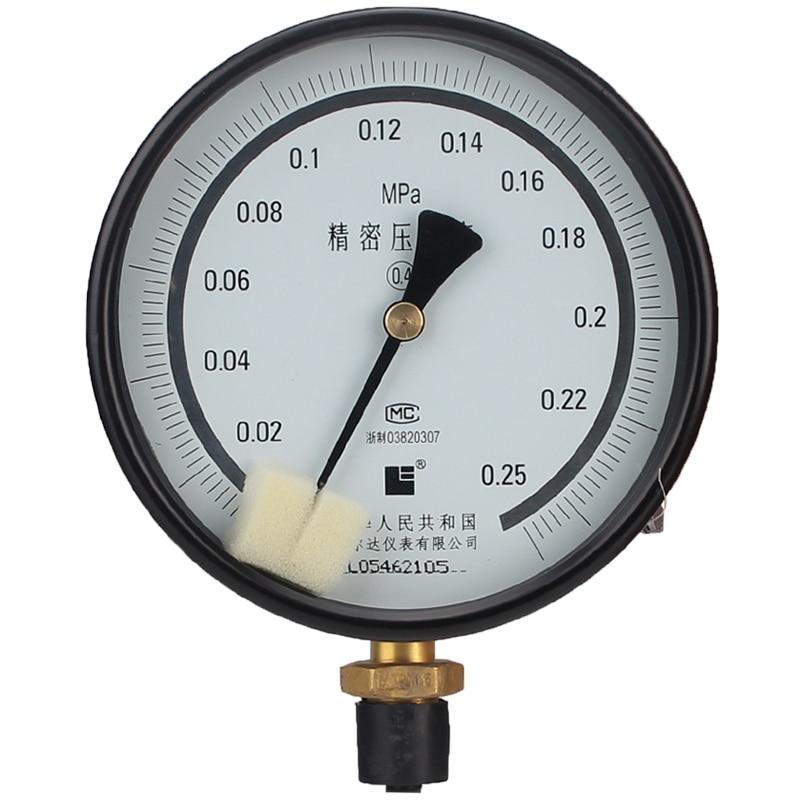 LEIERDA precision pressure gauge high precise test pressure gauge gas pressure gauge 0.4Grade YB-150A