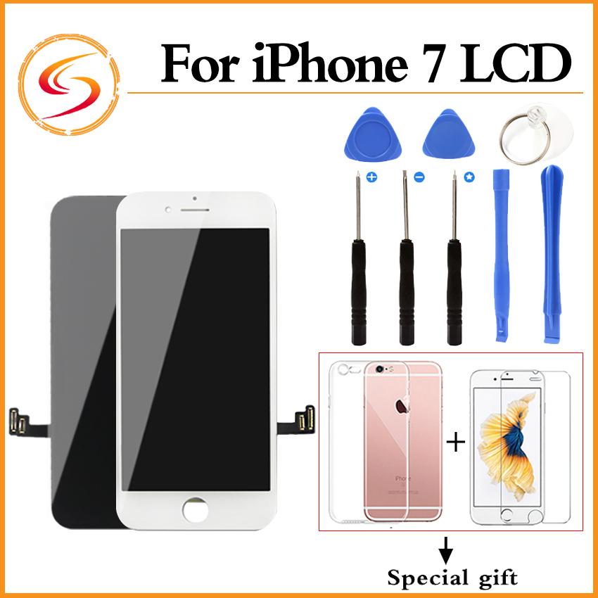 Prix pour Aaa + + + qualité pour iphone 7 lcd avec 3d force tactile assemblée d'écran 100% marque nouvel affichage livraison gratuite