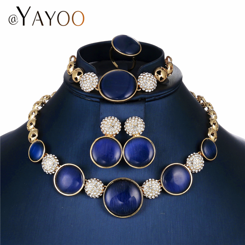 AYAYOO Wedding Jewelry Sets For Women Gold Color African Beads Jewelry Set Bridal Statement Necklace Set Dubai JewelleryAYAYOO Wedding Jewelry Sets For Women Gold Color African Beads Jewelry Set Bridal Statement Necklace Set Dubai Jewellery