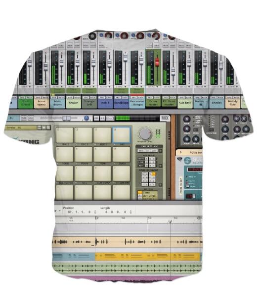 US $12 86 |Music Production Software T Shirts Ableton Live DJs Musicians  Producers T Shirt Men Women Summer Tops Tees Harajuku Camisa R2851-in