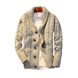 ¡Novedad de 2020! Cárdigan de algodón Regular con cuello vuelto, suéteres para Hombre, suéter con botones informal de un solo pecho, suéter de Hombre
