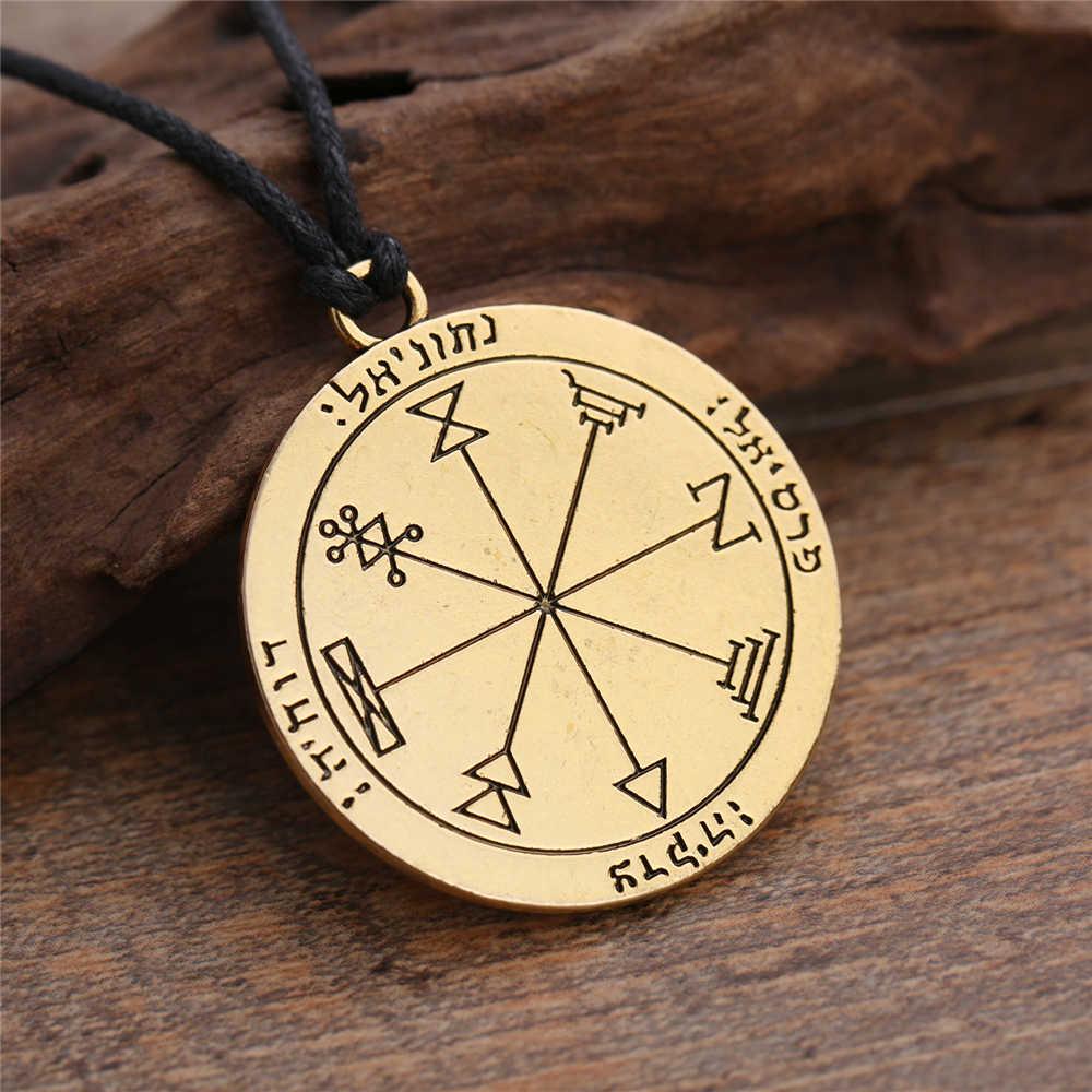 Dawapara drugi pentagram jowisza pieczęć salomona naszyjnik biżuteria talizman
