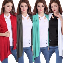 New summer fashion temperament casual womens jacket chiffon sleeveless shirt cardigan loose female shawl