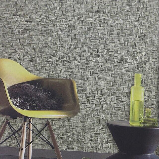 Us 48 5 Modernen Einfarbig Stroh Tapeten Vintage Pvc Wasserdichte Vinyltapeten Grau Esszimmer Wand Papierrolle Strick Papier Kontaktieren In