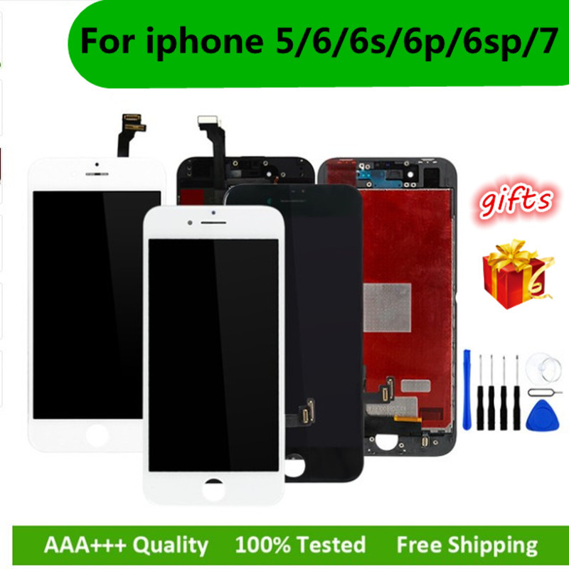 Black/White Assembly LCD Display Digitizer for iPhone 6s AAA Quality LCD Touch Screen for iPhone 6 7 5s 6splus No Dead Pixel-in Mobile Phone LCD Screens from Cellphones & Telecommunications