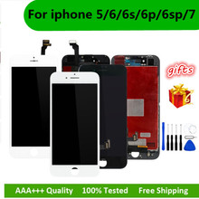 Black/White Assembly LCD Display Digitizer for iPhone 6s AAA Quality LCD Touch Screen for iPhone 6 7 5s 6splus No Dead Pixel 1pcs no dead pixel with aaa quality white or black for iphone 5 display