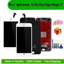 Preto/Branco Display LCD Assembléia Digitador para o iphone 6s AAA Qualidade da Tela de Toque LCD para o iphone 6 7 5S 6splus Nenhum Pixel Morto