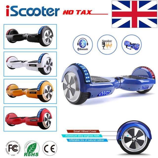 Iscooter hoverboard 6.5 дюймов Bluetooth Динамик скутер скейтборд Самостоятельная Баланс Электрический ХОВЕРБОРДА взрослый ребенок ul 2272 ХОВЕРБОРДА