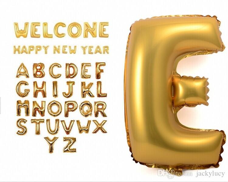 16 인치 골드 실버 알파벳 헬륨 알루미늄 호일 풍선 26 편지 웨딩 크리스마스 Birthda 파티 장식 용품