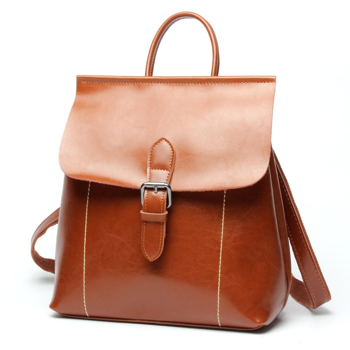 Leather Backpack School Bags Women Backpacks Women Casual Backpack Travel Bag High Quality Rucksack Bag