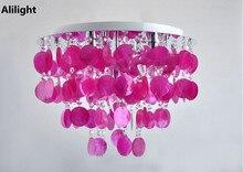 Moderne Mode Lila Schalen Deckenleuchte Schlafzimmer Studie Dekor Kristall Wohnzimmer Hngen Licht Unterputz Lampe